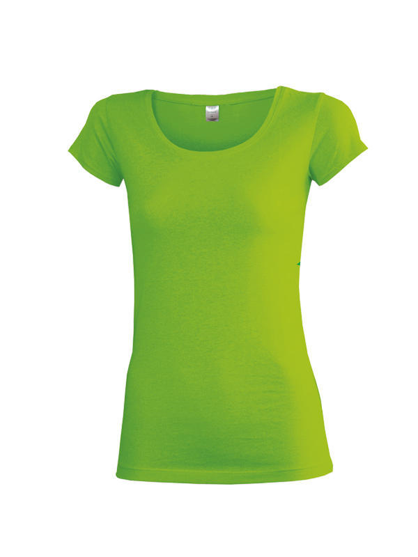 Dámské triko krátký rukáv U (S-XXL) svítivě zelené