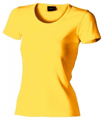Dámské triko krátký rukáv U (S-XXL) žluté