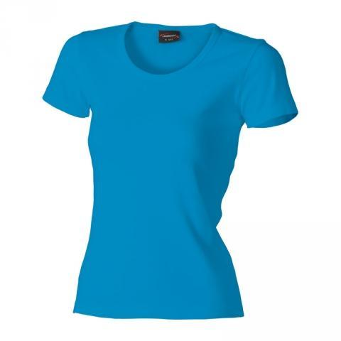 Dámské triko krátký rukáv U (S-XXL) modré