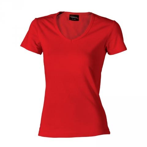 Dámské triko krátký rukáv V (S-XXL) červené