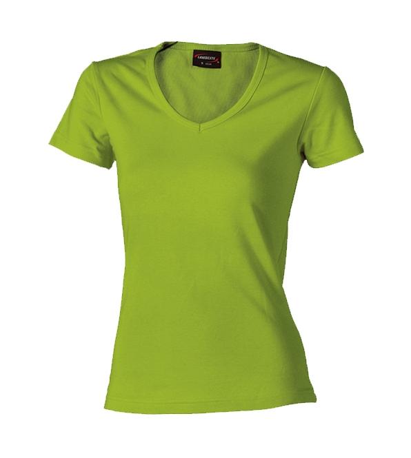 Dámské triko krátký rukáv V (S-XL) světle zelené