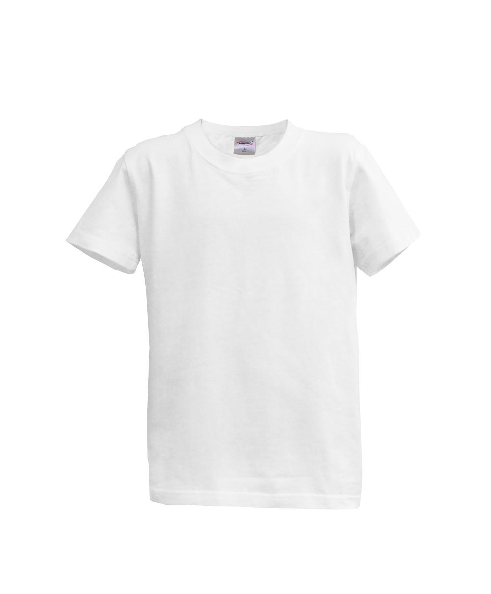 Dětské triko krátký rukáv U (128-164) bílé