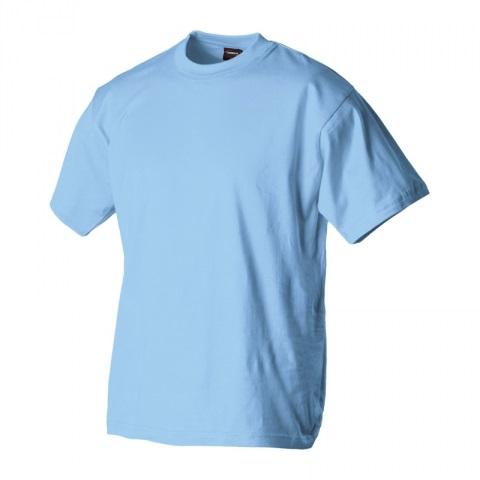 Dětské triko krátký rukáv U (128-164) světle modré