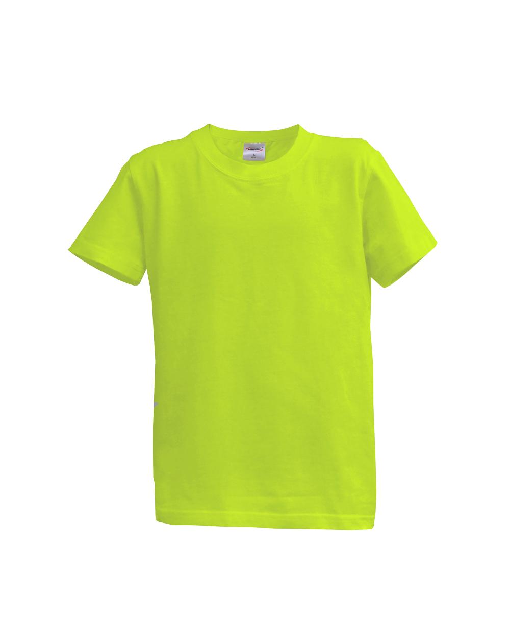 Dětské triko krátký rukáv U (128-164) světle zelené