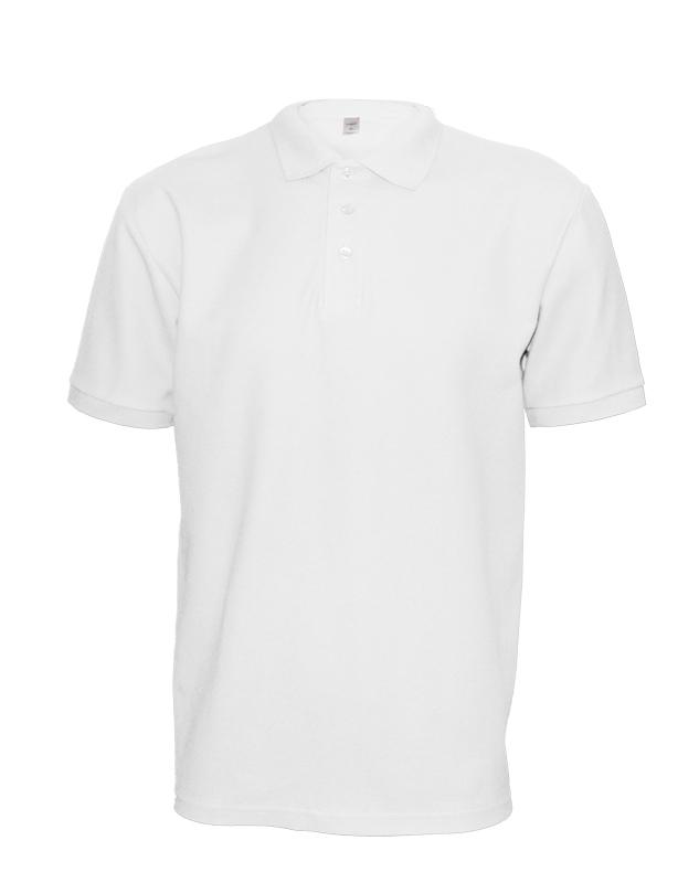 Polokošile unisex krátký rukáv (XS-XXL) bílá