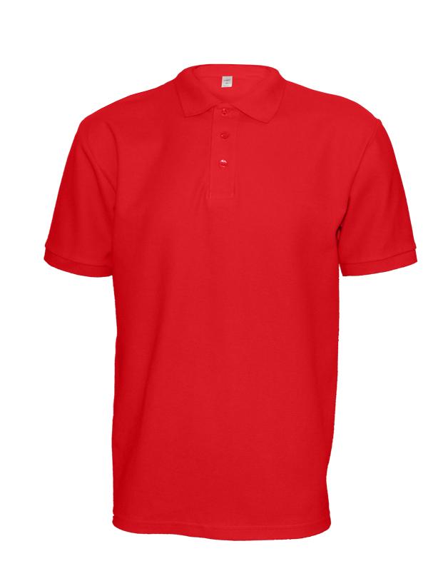 Polokošile unisex krátký rukáv (XS-XXL) červená
