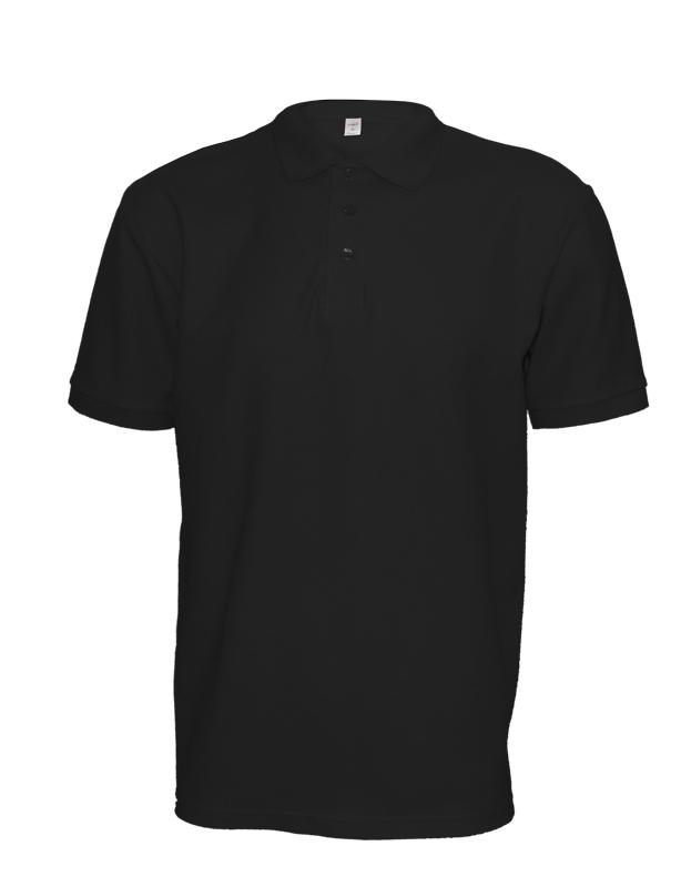 Polokošile unisex krátký rukáv (XS-XXL) černá