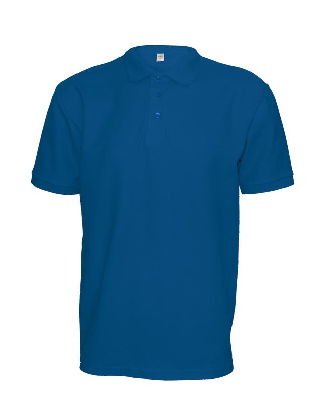 Polokošile unisex krátký rukáv (XS-XXL) modrá