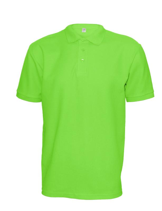 Polokošile unisex krátký rukáv (XS-XXL) svítivě zelená