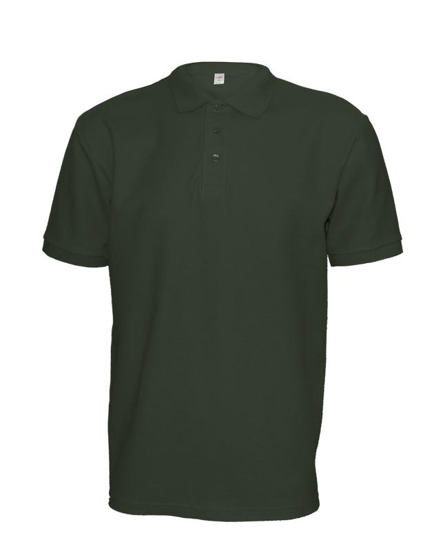 Polokošile unisex krátký rukáv (XS-XXL) vojensky zelená