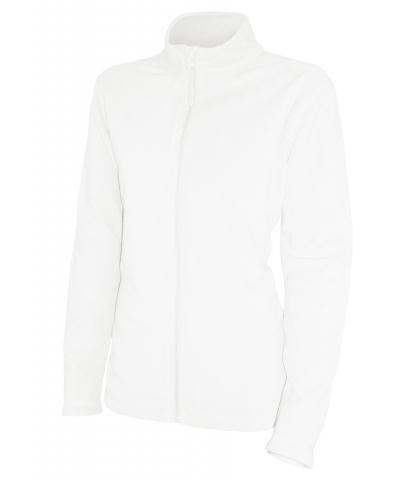 Dámská fleesová mikina (S-XXL) bílá