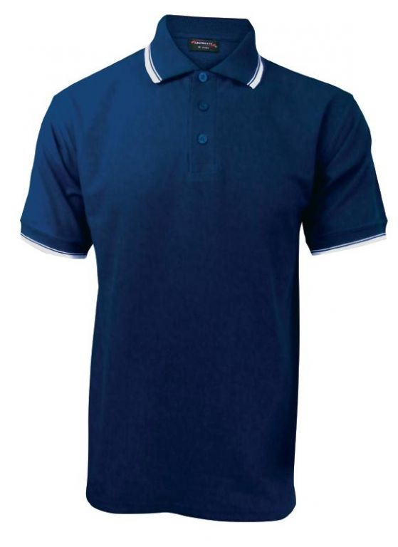 Pánská polokošile krátký rukáv (S-XXL) modrá/bílá