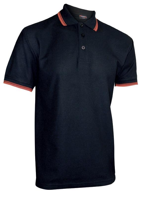 Pánská polokošile krátký rukáv (S-XXL) černá/červená