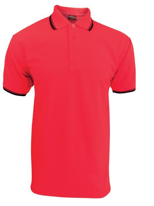 Pánská polokošile krátký rukáv (S-XXL) červená/černá