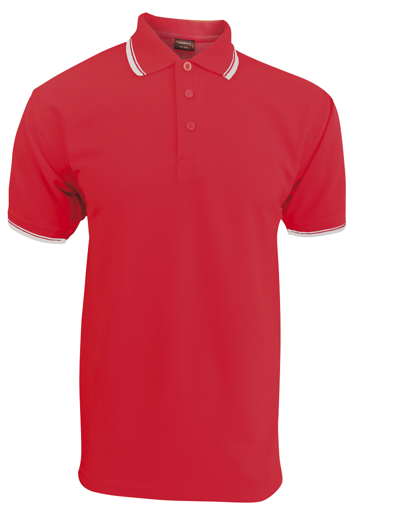 Pánská polokošile krátký rukáv (S-XXL) červená/bílá