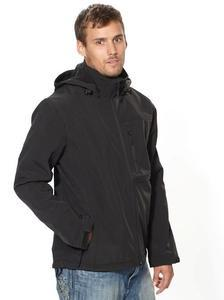 Pánská softshellová bunda s kapucí (M-XXL) černá