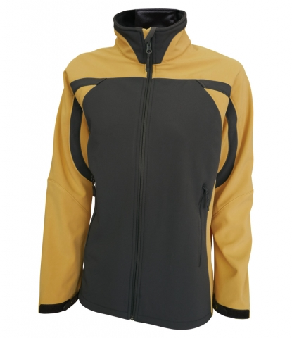 Dámská softshellová bunda (S-XL) žlutá/šedá