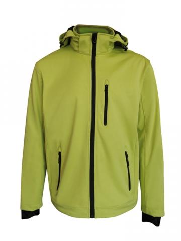 Pánská softshellová bunda (M-L) světle zelená