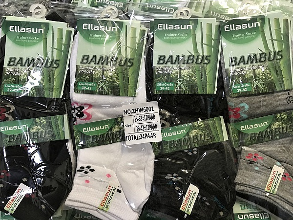 Dámské bambusové kotníčkové ponožky ELLASUN (35-42)
