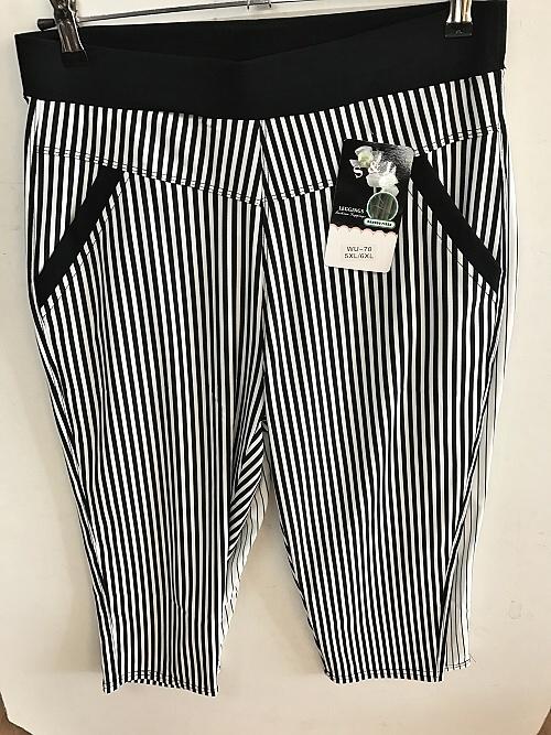 Dámské 3/4 bambusové kalhoty SMILING (XL-6XL)