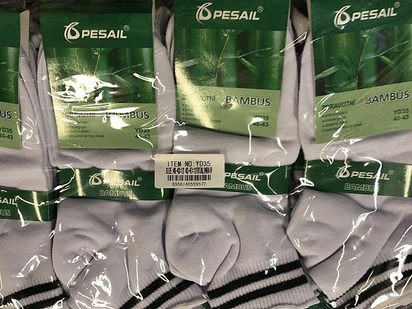 Pánské zdravotní bambus.kotníč. ponožky PESAIL (41-47)