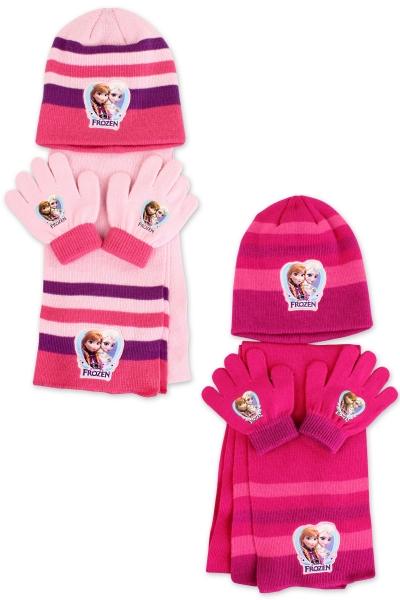 Dívčí pletená souprava čepice a prstových rukavic 9d2214df1e