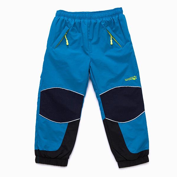 Dětské šusťákové kalhoty s fleecem WOLF (80-86) 48d2943ae1