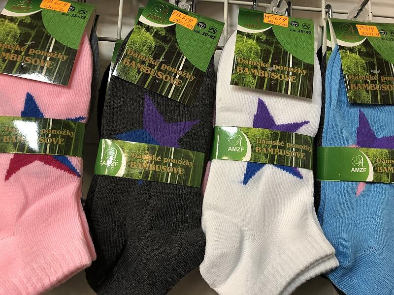 Dámské bambusové kotníčkové ponožky AZMF (35-42)