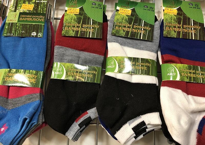 Dámské kotníčkové bambusové ponožky AMZF (35-42)