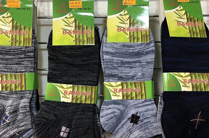 Pánské kotníč.bambus.ponožky AMZF (40-47)