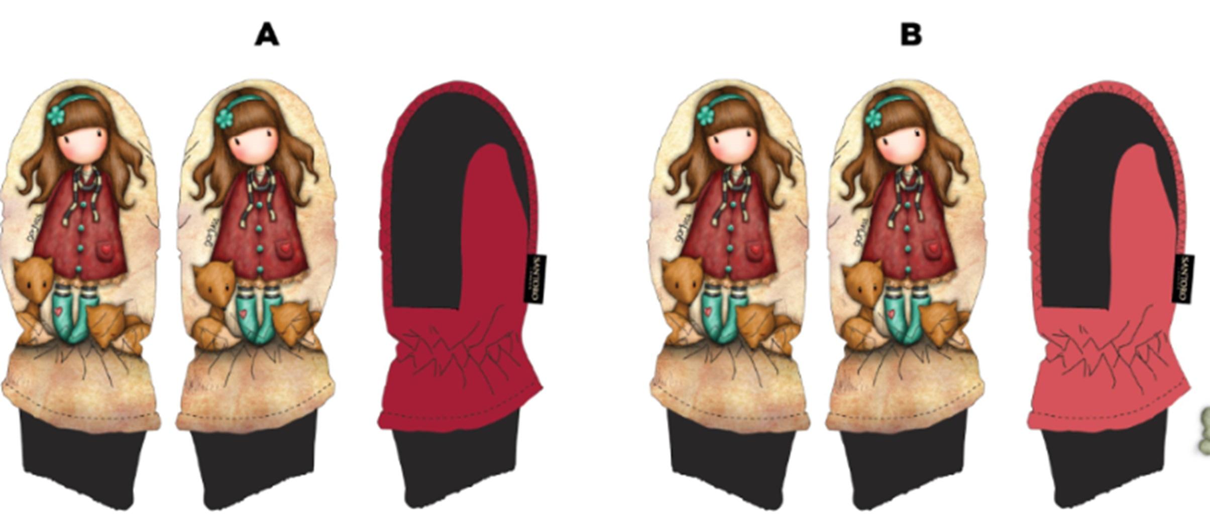 Dívčí zimní palcové rukavice GOR. (vel. 3-6 let)