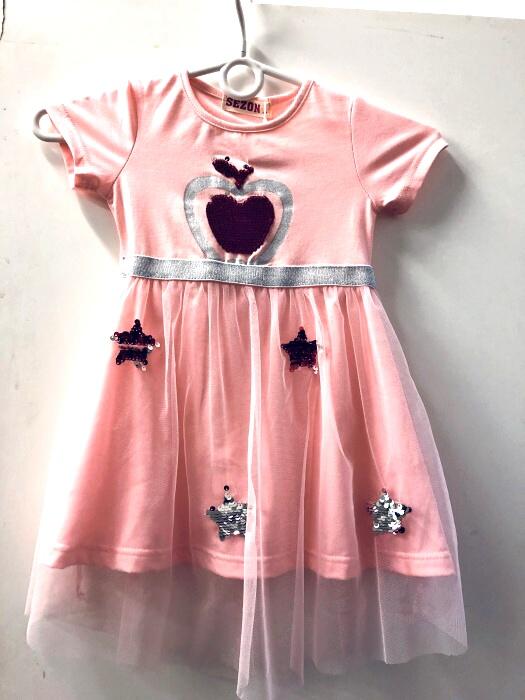 Dívčí šaty s flitry SEZON (98-128)