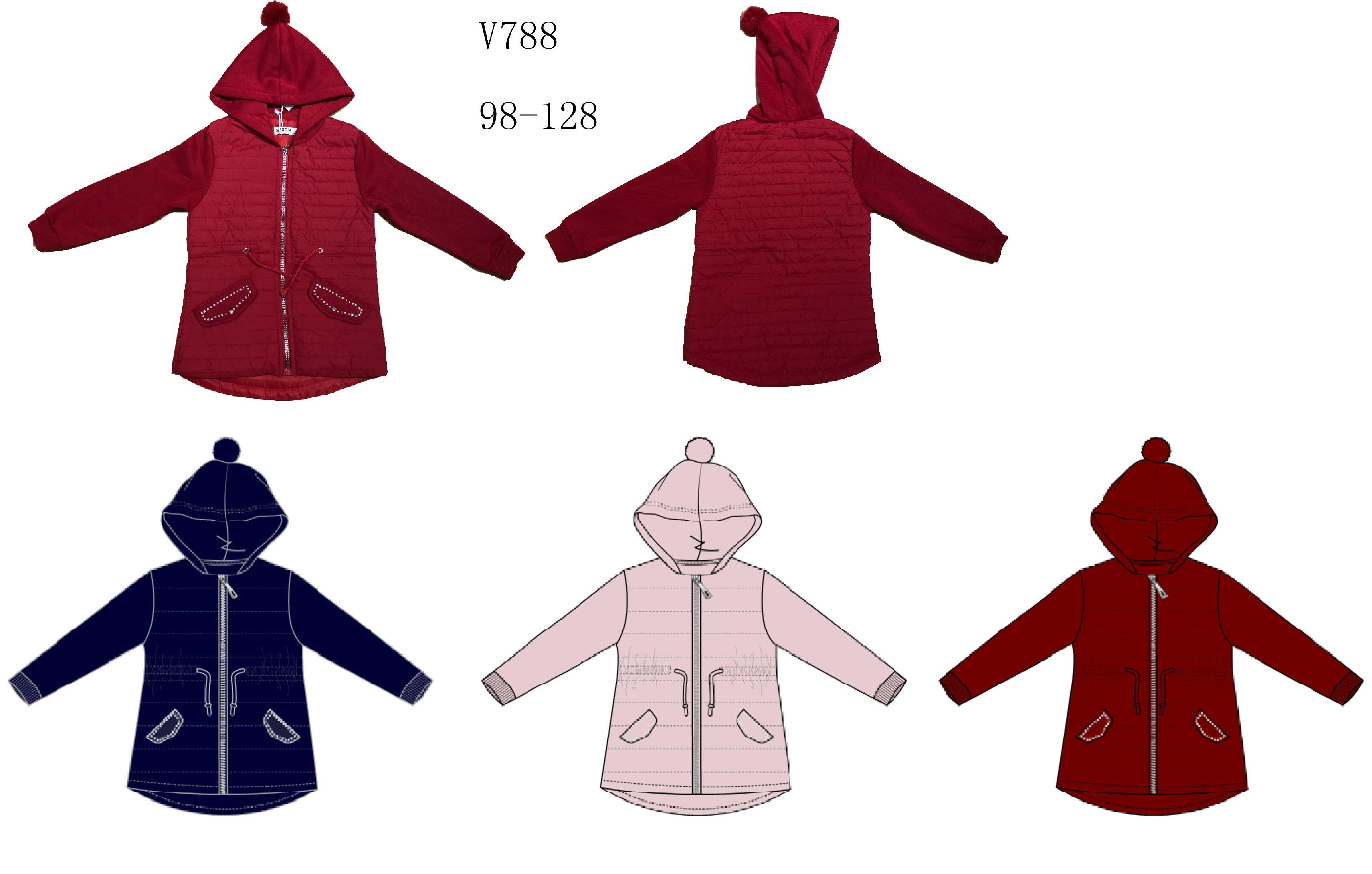 Dívčí mikino- bunda SEZON (98-128)