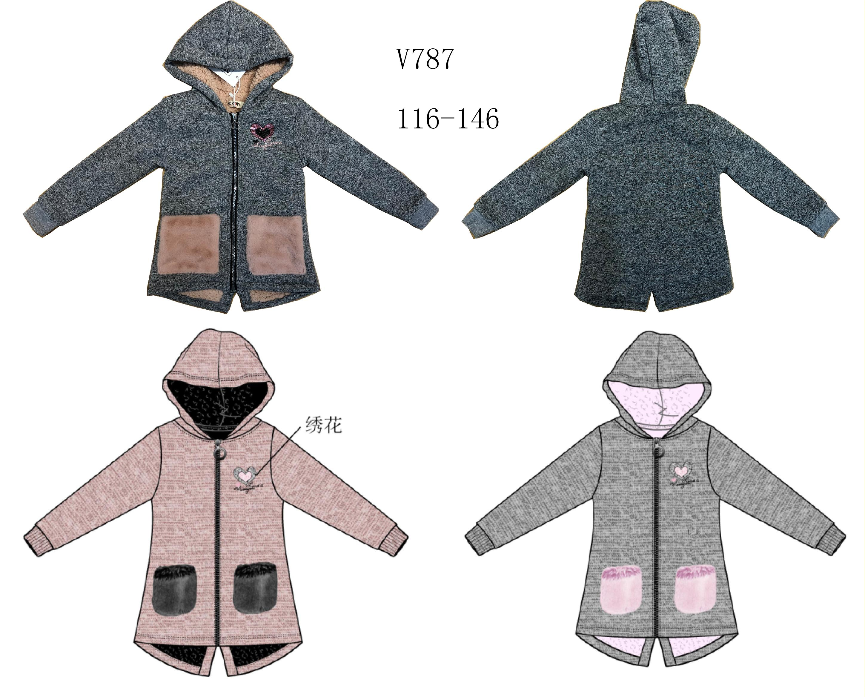 Dívčí mikino - bunda SEZON (116-146)