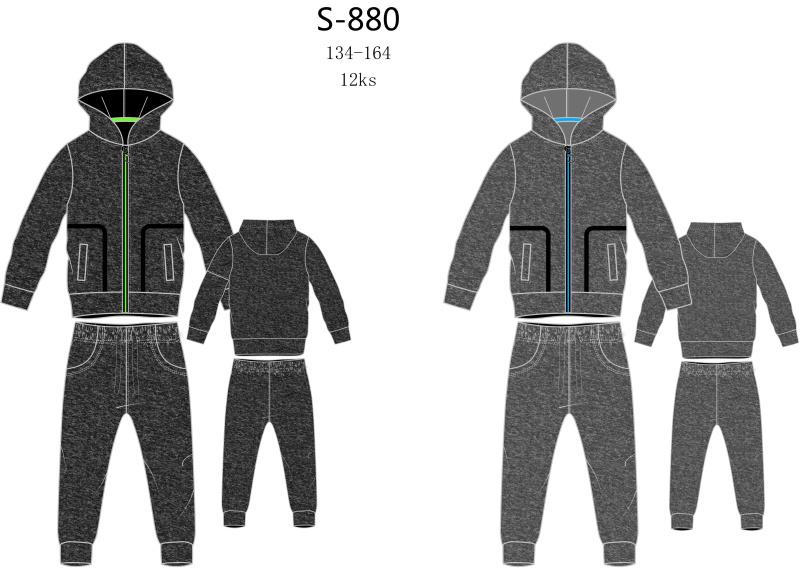 Chlapecká teplá tepláková souprava SEZON (134-164)