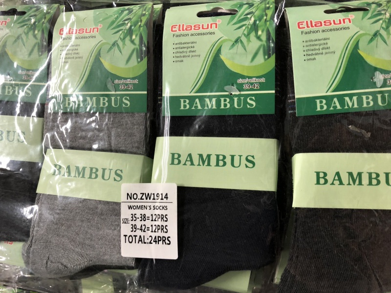 Dámské zdravotní bambusové ponožky ELLASUN (35-42)