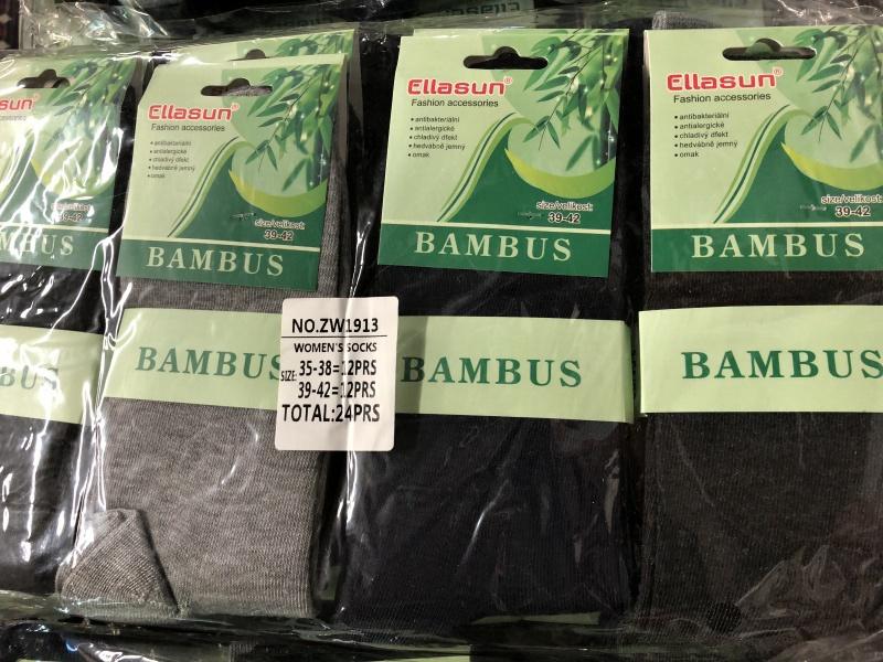 Dámské zdravotní bambusové ponožky ELLASUN (36-42)