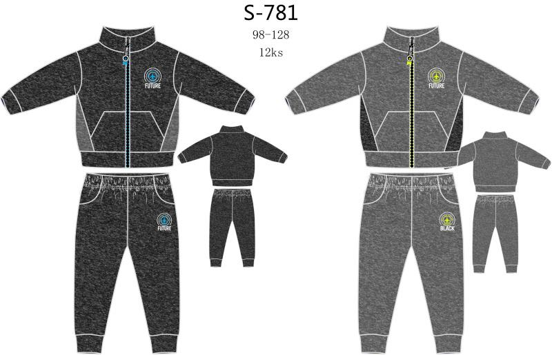 Chlapecká teplá tepláková souprava SEZON (98-128)