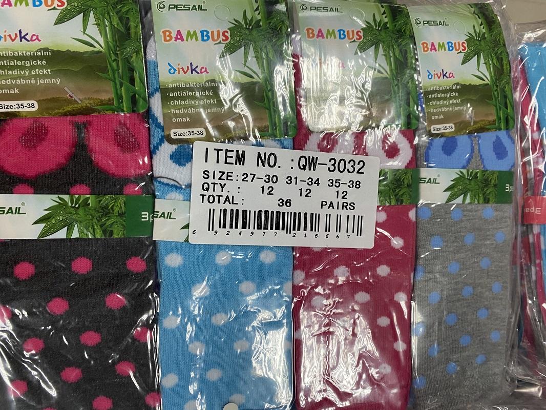 Dívčí vysoké bambusové ponožky PESAIL (27-38)