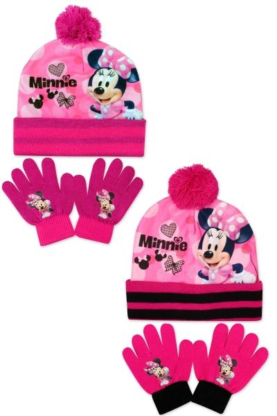 Dívčí pletená souprava čepice a prstových rukavic Frozen (velikost UNI)