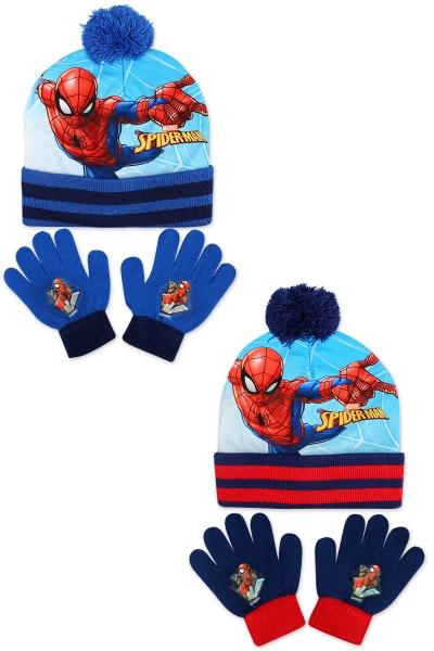 Chlapecká pletená souprava čepice a prstových rukavic SAM (velikost UNI)