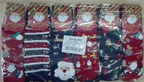Dámské thermo vánoční ponožky AURA.VIA (35-41)