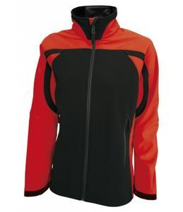 Dámská softshellová bunda (S-XL) červená/černá
