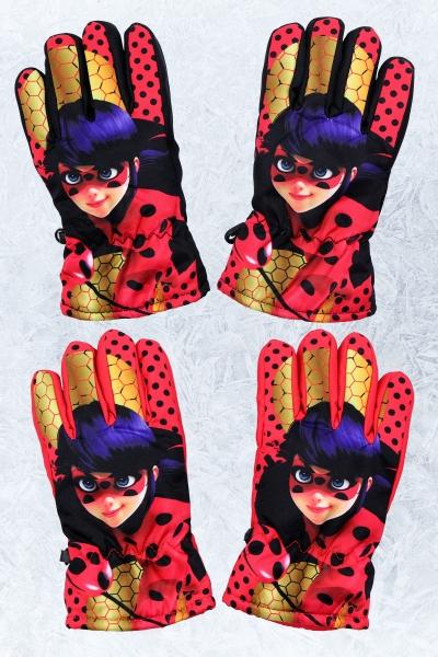 Dívčí lyžařské  prstové rukavice LadyBug (7-12 let)
