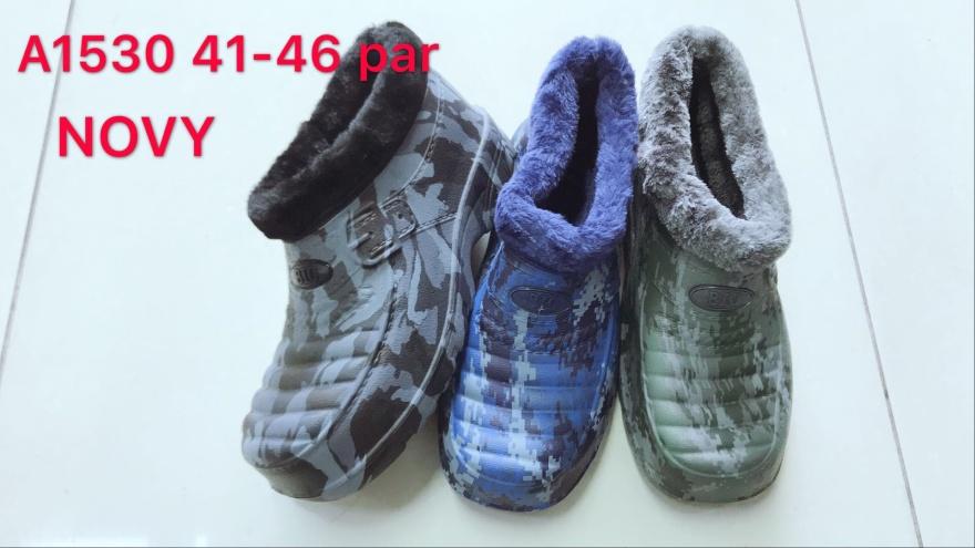 Pánské zateplené kotníčkové gumové nazouváky (41-46)