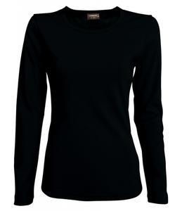 Dámské triko dlouhý rukáv U (S-XXL) černé