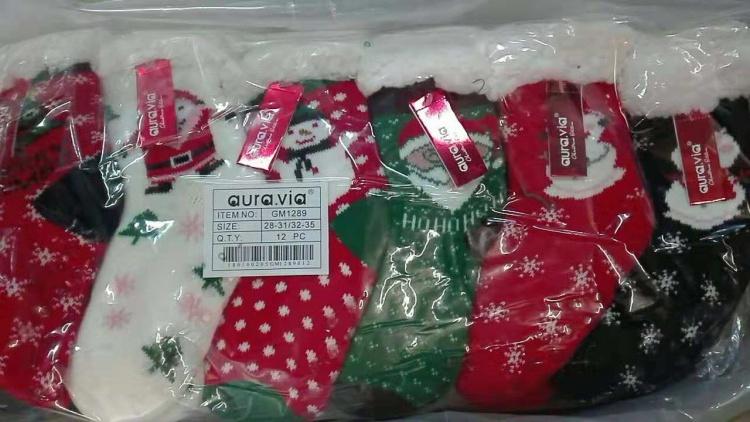 Dětské vánoční vyteplené ponožky / bačkory AURA.VIA (28/31.32/35)