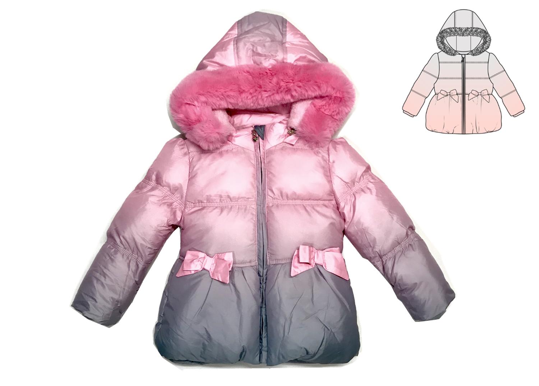 Dívčí zimní bunda KUGO (1-5 let)