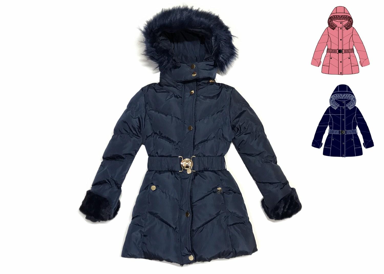 Dívčí zimní bunda/kabát  KUGO (8-16 let)