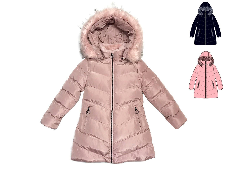 Dívčí zimní bunda/kabát  KUGO ( 4-12 let)